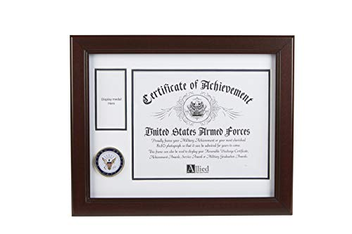 Allied Frame US Navy Medal and Award Certificate Frame - 8 x 10 Opening