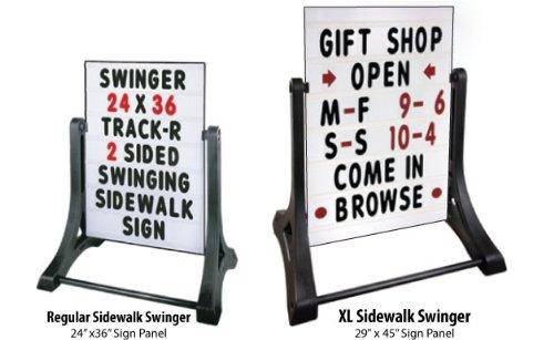Deluxe Swinger - XL Deluxe Swinger Sidewalk Message Board Sign