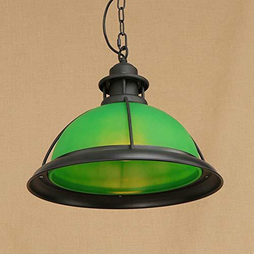BYJUM Vintage Ceiling Lighting Chandelier Pendant Light Industrial E27 Socket Loft Living Room Bar Decoration 110-240V,Green