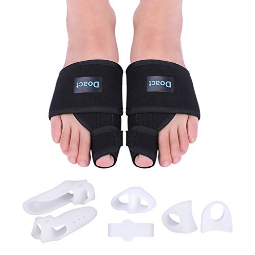DOACT Bunion Corrector Big Toe Straightener, Bunion Splint Kit 6 Pieces Gel Toe Separators, Bunion Brace Support Relief Pain Hallux Valgus, Hammer Toe, Overlapping Toe, Fits Women Men – DiZiSports Store