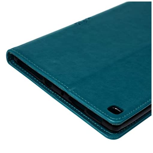 MOTIKO Compatible with Kindle Fire HD8 2015/2016/2017/2018 Tablet Case, PU Leather Ultra Slim Lightweight Smart Cover Magnetic Closure Flip Cover with Stand Auto Sleep/Wake Function Case – Blue