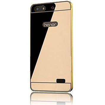 Sunnycase® Huawei G Play mini / Huawei Honor 4C Funda Aluminio carcasa Oro Metal Mirror Bumper phone case Hard Cover with Frame caja del teléfono ...