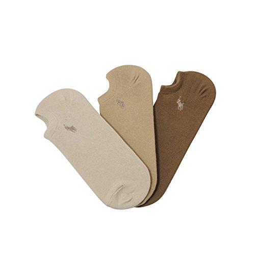 Polo Ralph Lauren Athletic Socks Brown Tones (pack of (Lauren Brown)