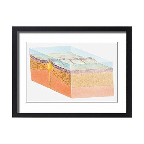 Earth Model Section Cross (Media Storehouse Framed 24x18 Print of Illustration of Oceanic Crust (13540567))