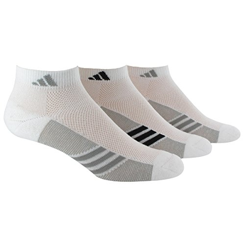 adidas Womens Climacool Superlite Low Cut Socks (3 Pack), White/Light Onix/Black, Size 5-10