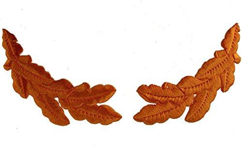 (Metallic Gold Scrambled Eggs Set Oak Leaf Sprig Officer Cap Iron on Patches)