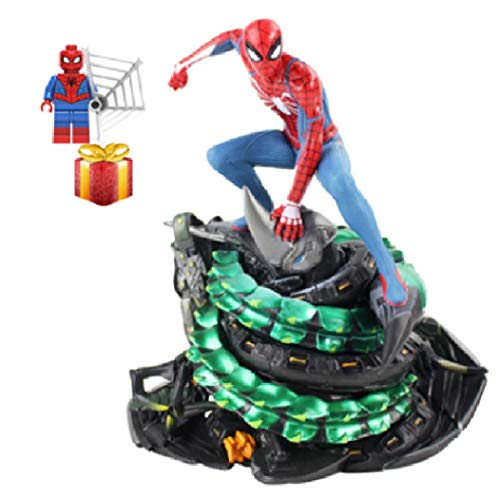 Lizdo Deals Marvel Limited PS4 Spider-Man Collectors Edition Spiderman Action Figure PVC Statue Collectible Model Toy, Bundled with Mini Spiderman Look-Alike Figure