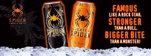 Spider Energy Drink, Original, 16-Ounce (Pack of 8)
