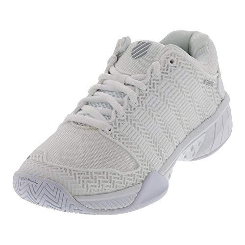 K-Swiss Women's Hypercourt Express Tennis Shoe (White/Highrise, 9 M US)