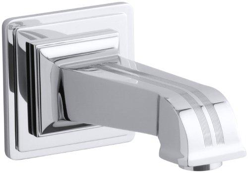 Kohler K-13139-B-CP Pinstripe Wall-Mount Bath Spout, Polished Chrome