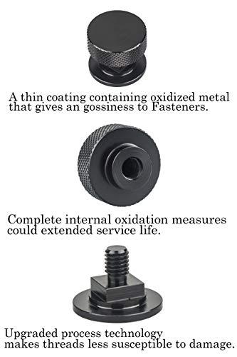 Welding Hood (Pipeliner) Helmet Fasteners Aluminum - 1 Pair (Black Anodized Knurled) by 3mirrors (Image #5)