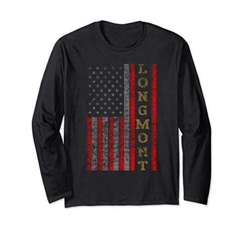 Cool Patriotic Longmont USA - US Flag Gift Idea Long Sleeve T-Shirt