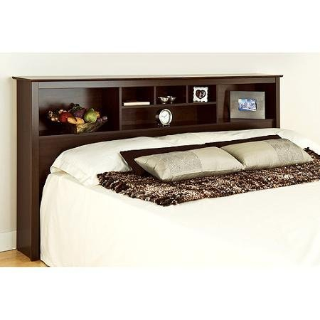 Edenvale King Storage Headboard, Espresso - Prepac Furniture Made of Composite Wood (Outdoor Furniture Edenvale)