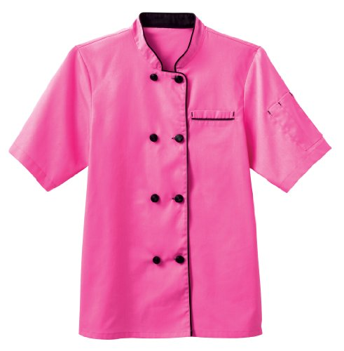 Chefs Executive Jacket (Five Star Chef Apparel Ladies Short Sleeve Executive Coat (Posh Pink, XX-Large))