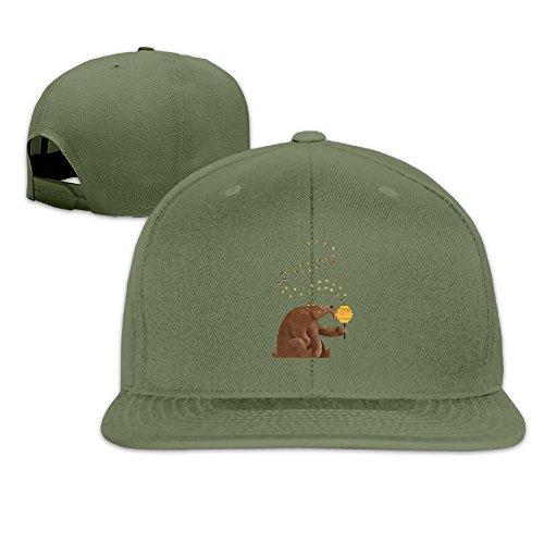 Ioutrhb Hip Hop The Honey EATEN by Bear Trucker Hat Cap Sun Hats Fashion For (Mace Bear Repellent Spray)