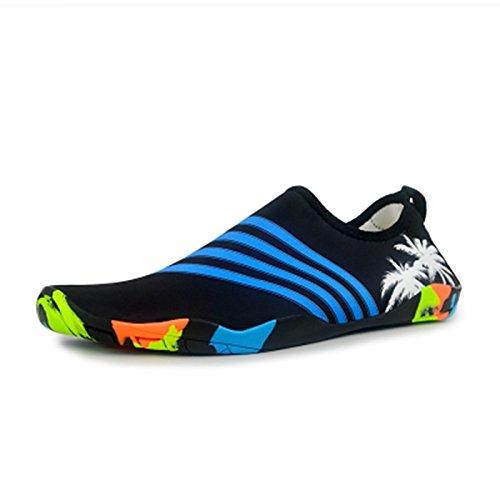 Buceo Zapatos Barefoot Vadeando Suaves Natación Patines Adultos Playa Las y negras Antideslizante Estera Snorkel El rojas Calzados bandas JUNHONGZHANG Zapatos 7qzpRXR