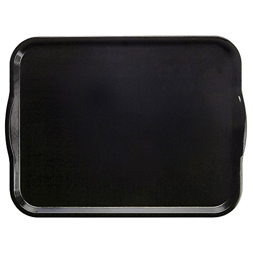 Cambro Camtray Black Fiberglass Tray with Handles - 18