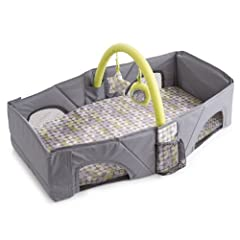 Maintain baby's routine and comfort with this Infant Travel Bed for on the go napping and diaper changes. The lightweight fold and go design provides your little one with a comfortable, relaxing, and enclosed place to sleep. The bed's front p...
