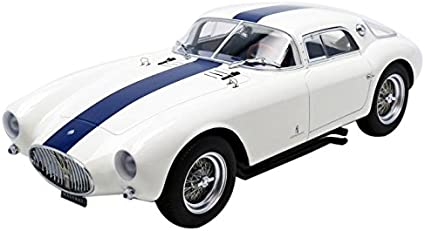 1954 Maserati A6GCS in White in 1:18 Scale by Minichamps Diecast Model