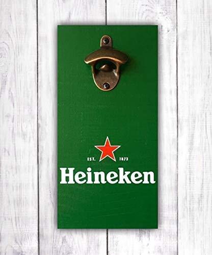 Man Cave Sign -by LEADING EDGE DESIGNS Wall Mounted Opener Heineken Beer Bottle Opener Heineken Beer Sign Heineken Bar Sign