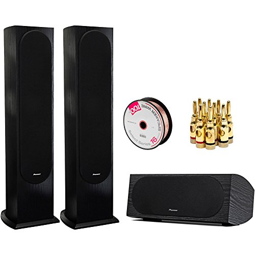 PIONEER 2-Pack Andrew Jones Designed Floorstanding Loudspeaker Audio Bundle