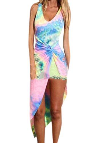 Abito dye donne Tie Discoteca Sexy Matita Spiaggia Bassa Alta Backless Come Immagine Coolred Di wCI0xdqd