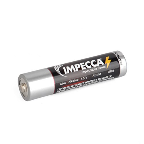 IMPECCA AAA Batteries All Purpose Alkaline Batteries 100Pack High Performance AAA Battery Long Lasting Shelf Life and Leak Resistant 100Count LR3  Platinum Series