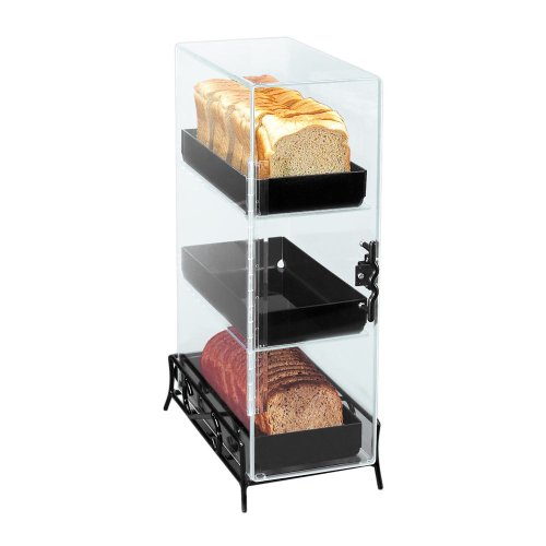 Cal-Mil 1204-13 Clear Acrylic 3 Level Bread Box with Wire Base by Cal Mil