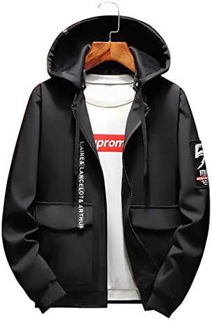 ブルゾン ジャケット メンズ 薄手 スリム ウインドブレーカー カーゴ ジャケット 取り外し フード ポケット付 防風 保温 大きいサイズ