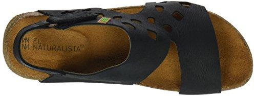 El Naturalista Ladies N5061 Piacevole Sandalo Open Toe Wakataua Nero (nero)