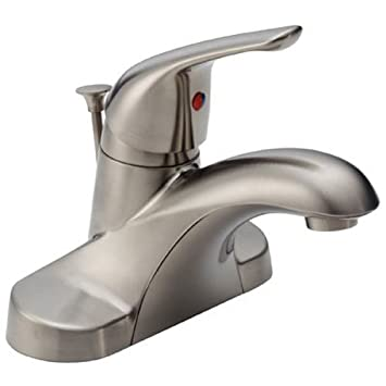 Delta Foundations B510LF-SS Single Handle Centerset Bathroom ...