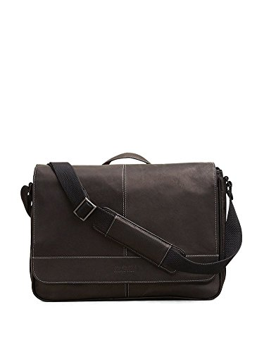 Black Mens Messenger Bag (Kenneth Cole Risky Business Messenger Bag, Black, One)