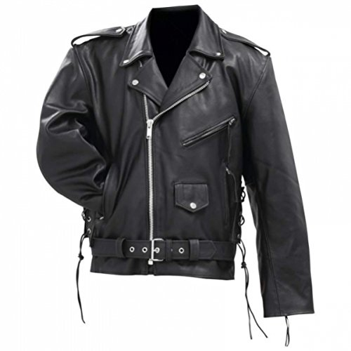Classic Leather Motorcycle Jacket - 7