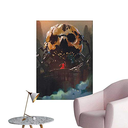 Modern Painting Wizard Villain Standing ito Skelet Dark Supernatural Powers Home Decoration,32