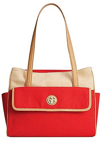 Red Giani Straw Mother's Day Handbag Bernini Tote wxxrvgfYq