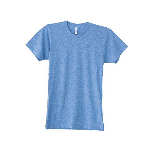 American Apparel Unisex Tri-blend Short Sleeve Track T-Shirt (XL) (Athletic Blue)