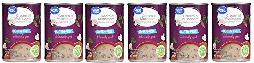 Condensed Pack Value (Great Value Gluten-Free Cream Of Mushroom Condensed Soup, 10.5 oz, Pack of 6)