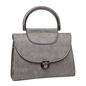 Women's Shoulder Bag, Multi-Function Crossbody Bag, Small Capacity pu Leather Clutch, Simple, Suitable for Dating, Gifts,Gray