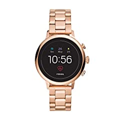 Classic Design. Modern Tech. This 40mm Venture HR touchscreen smartwatch features a rose gold-tone stainless steel bracelet, and lets you track your heart rate, receive notifications, customize your dial and more. Smartwatches powered with We...