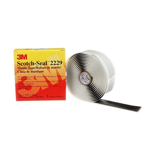 3M(TM) Scotch-Seal(TM) Mastic Tape Compound 2229, 1 in x 10 ft, Black,Moisture & Corrosion Resistant ()