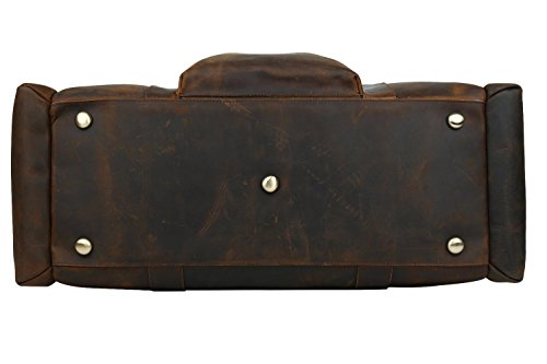 Polare 23'' Duffle Retro Thick Cowhide Leather Weekender Travel Duffel luggage Bag by Polare (Image #4)