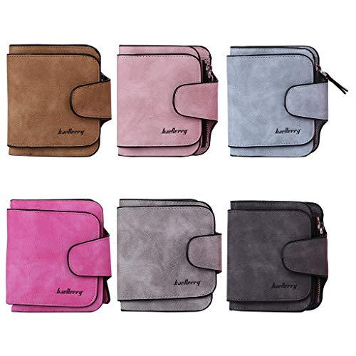 Cadania Di Azzurro Rosa Chiaro Tasche Carte Portafoglio Monete Porta Donna Cambia Per Corto Credito Portafogli rwqXFgr