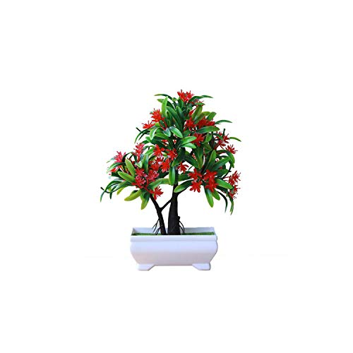 Bonsai Simulation Decorative Artificial Fake Flowers Green Pot Plants Ornaments Emulate Bonsai Home Decor,D