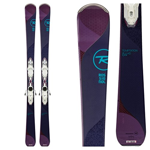 Rossignol Temptation 84 HD Womens Skis with Xpress 11 Bindings 2018 - (146 Cm Skis)