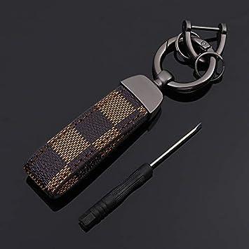 Amazon.com: BOLLAER - Llavero de piel de lujo para coche ...