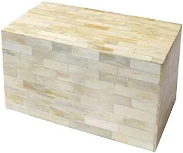 Better & Best Caja de Hueso Rectangular, Alta, Color Blanco ...