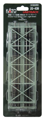 Kato N gauge 20-439 double-track railway bridge truss (light green)