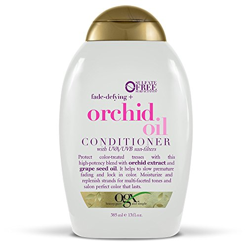 OGX Fade-Defying + Orchid Oil Conditioner, 13 Ounce Bottle, Protect Color-Treated Tresses With This Blend Containing Orchid Extract and Grape Seed Oil Sulfate-Free Surfactants from OGX