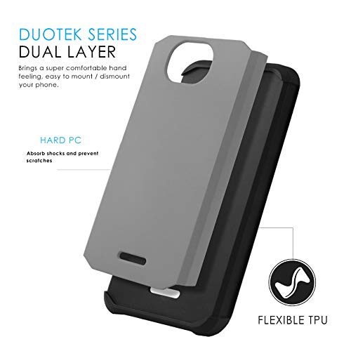 Phone Case for [ALCATEL Tetra (5041C)], [DuoTEK Series][Gray