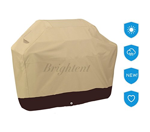Deluxe Heavy Duty Waterproof BBQ Grill Cover Barbecue Gas Covers Protector XQPB (Khaki BBQ Cover--57